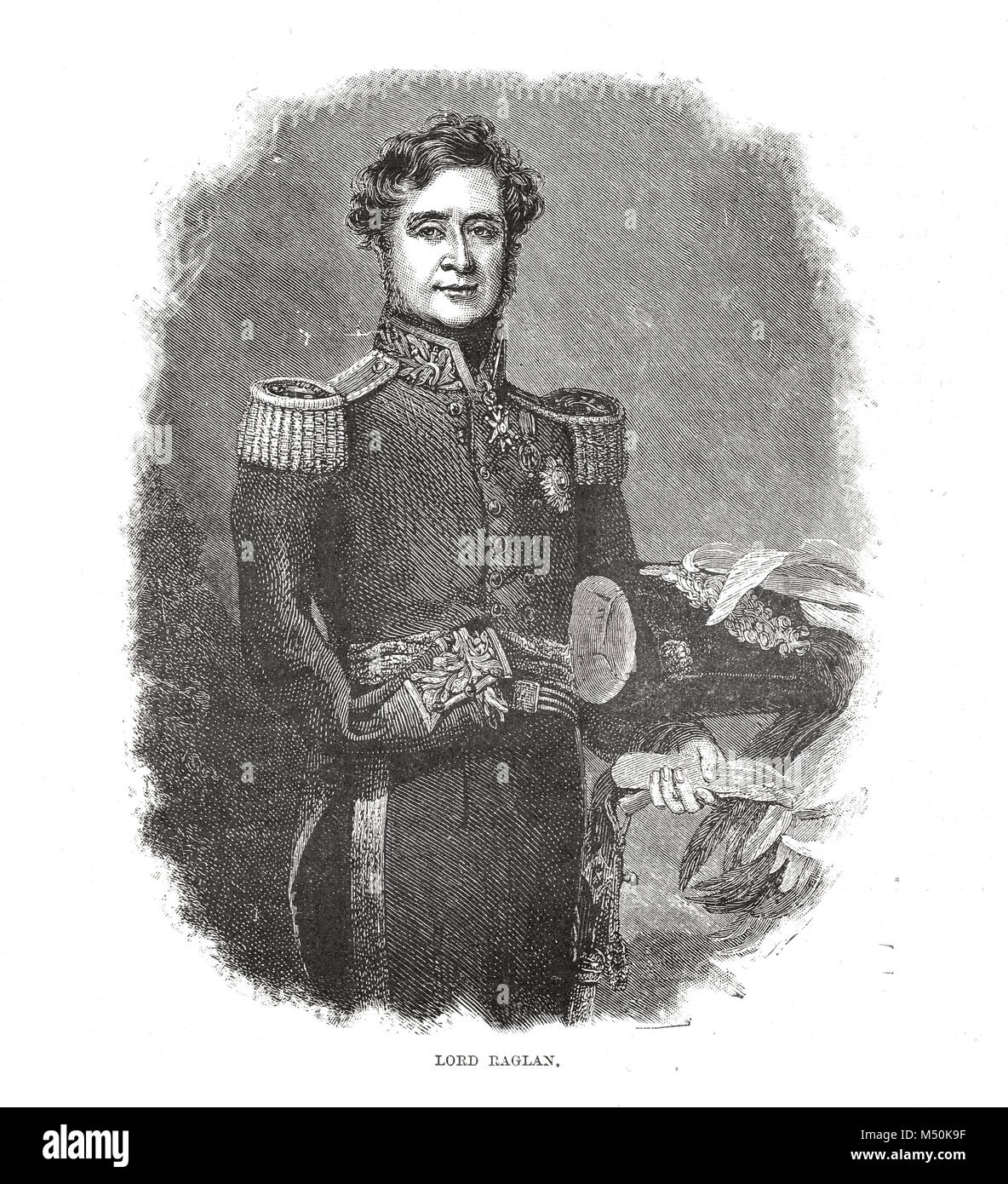 Field Marshal FitzRoy Somerset, 1st Baron Raglan, 1854, commander of the British troops sent to the Crimea in 1854 - Stock Image