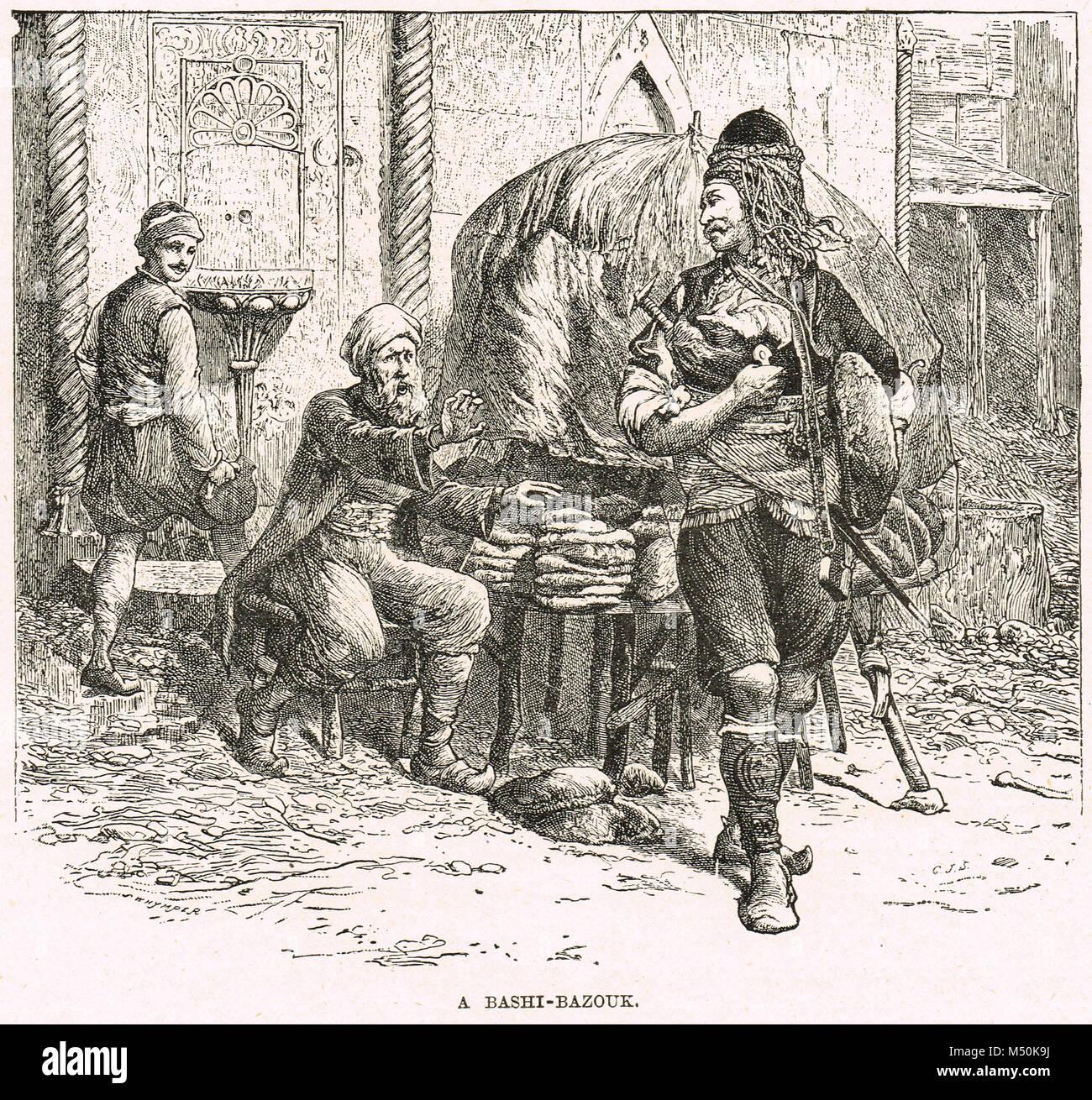 A Bashi-Bazouk, Crimean war, 1854 - Stock Image