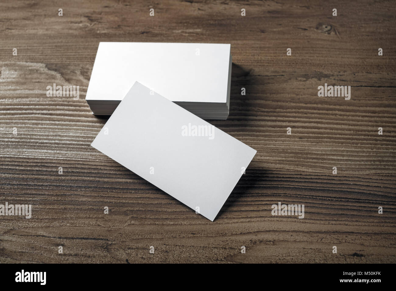 Photo of blank business cards Stock Photo: 175192295 - Alamy