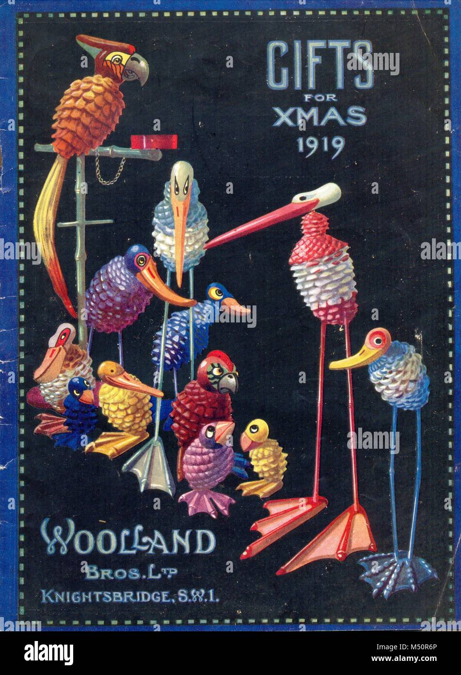Ltd Christmas Catalog.Christmas Gift Catalogue Cover For Woolland Bros Ltd 1919