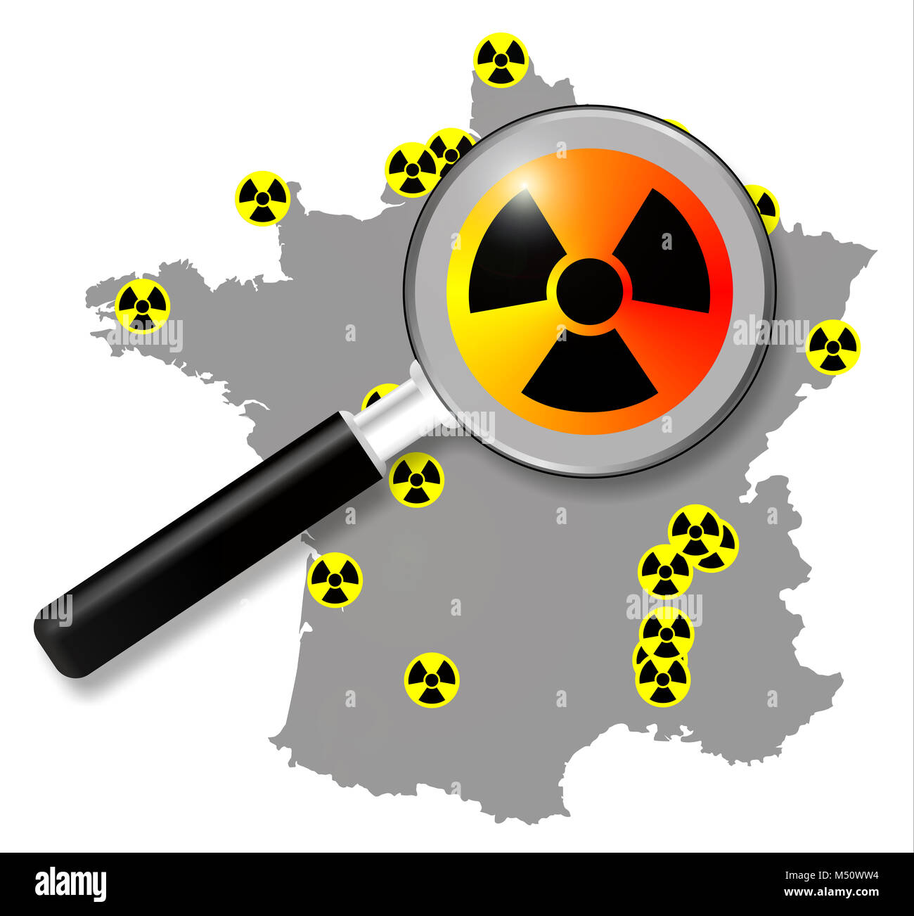 Focus on French nuclear power stations - Stock Image
