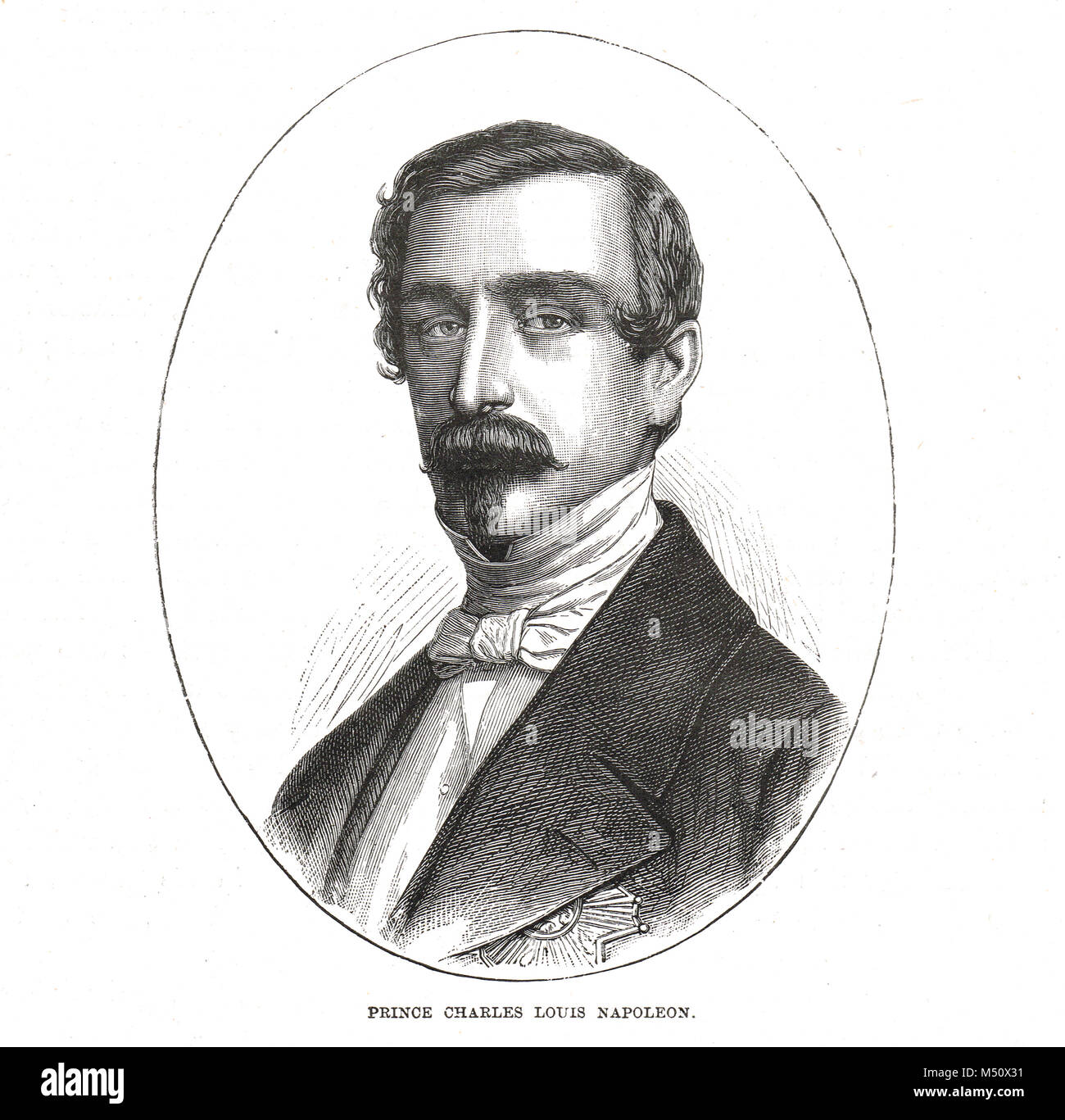 Napoleon III, Emperor of France, Charles Louis Napoleon Bonaparte, emperor of the second French Empire from 1852 - Stock Image
