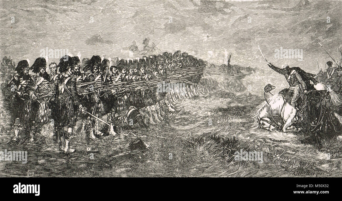 Battle of Balaclava, 25 October 1854, Crimean war, Russian advance held by the thin red line - Stock Image