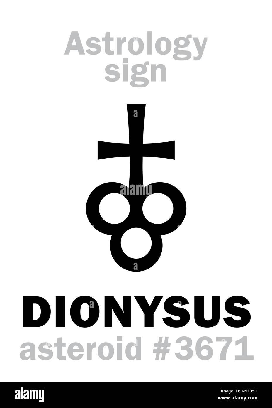 Astrology Asteroid Dionysus Stock Photo 175199065 Alamy