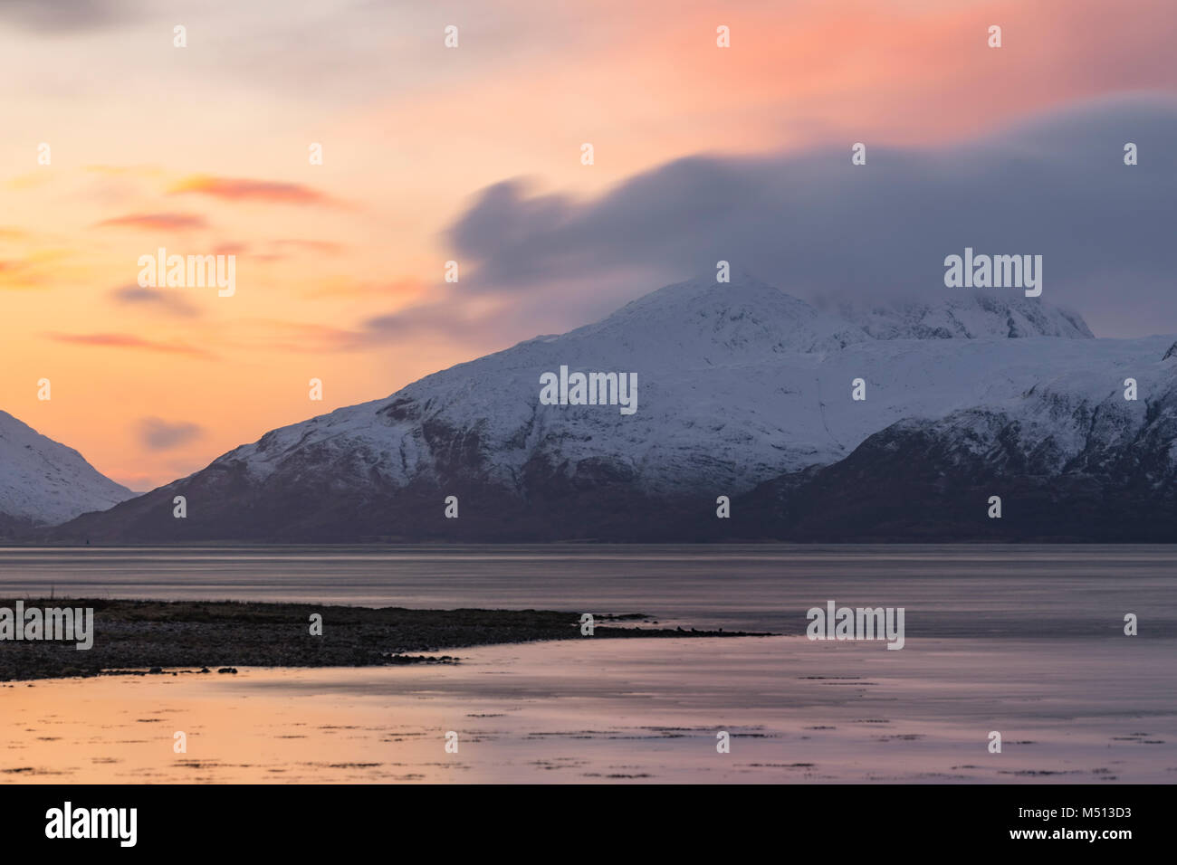 Loch Linnhe, Glencoe, Highlands, Scotland, United Kingdom - Stock Image