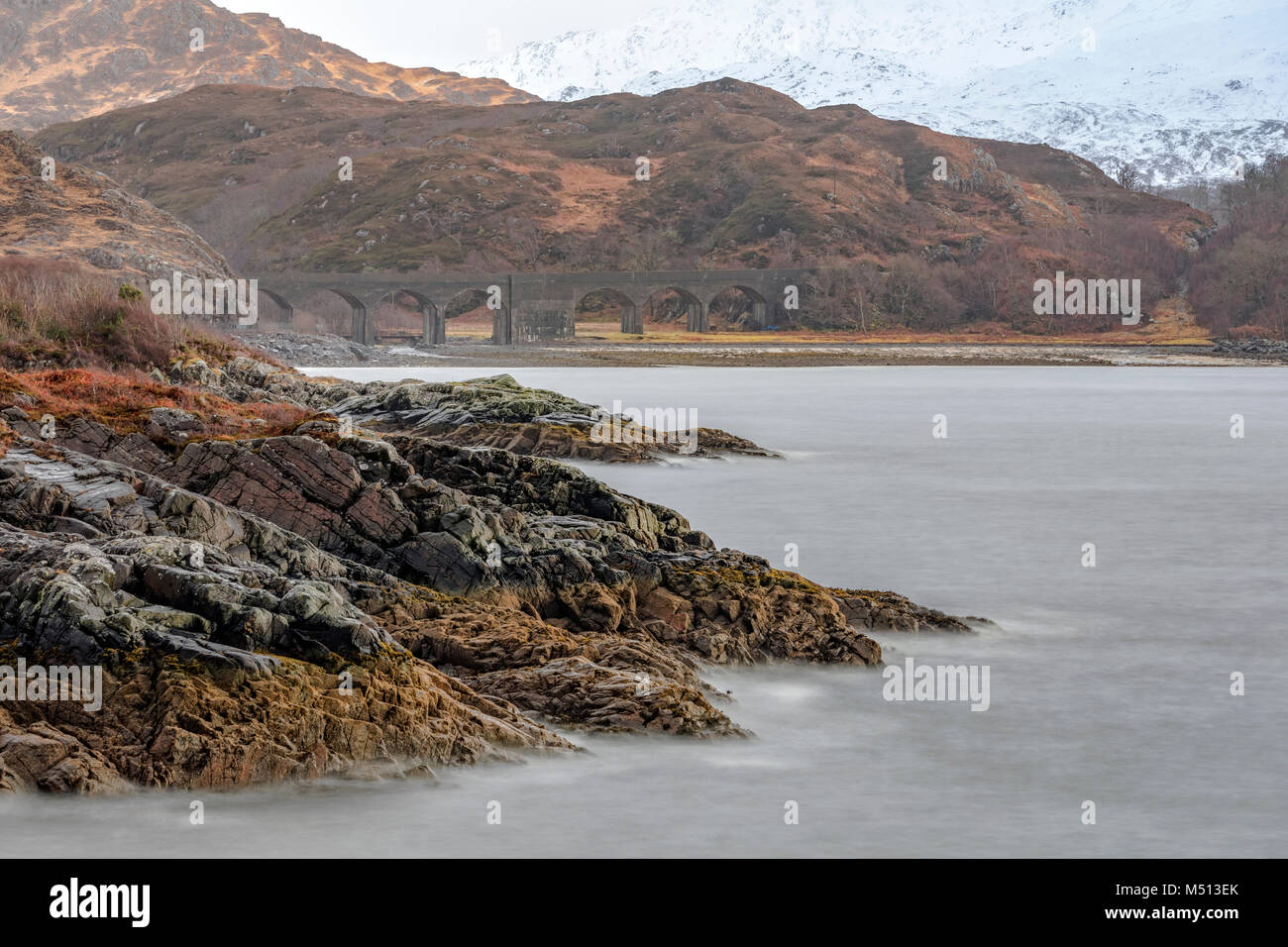 Loch nan Uamh, Arisaig, Highlands, Scotland Stock Photo