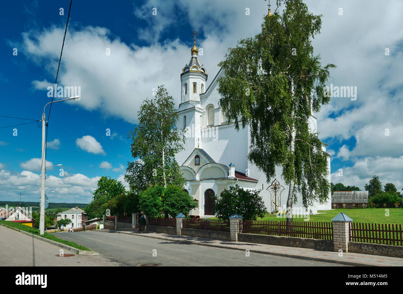 Church of Boris and Gleb in Novogrudok, - Stock Image