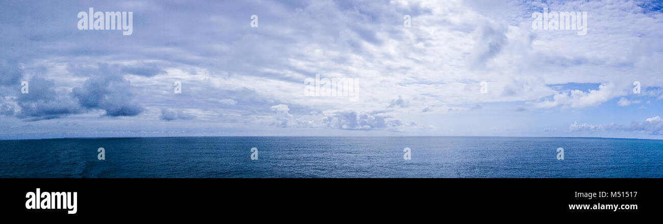 pacific ocean waterscapes panorama near alaska - Stock Image