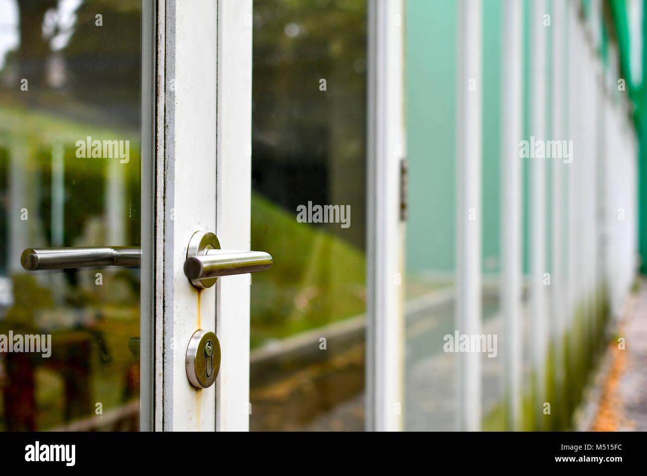 Perspective of building doors - Stock Image