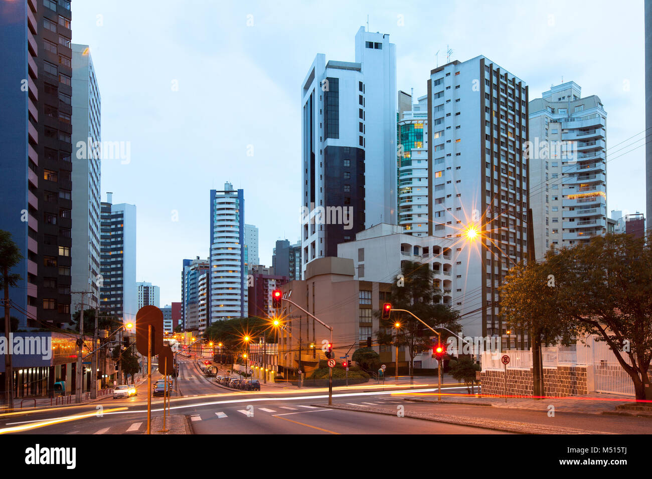 The wealthy neighborhood of Batel, Curitiba, Parana State, Brasil - Stock Image