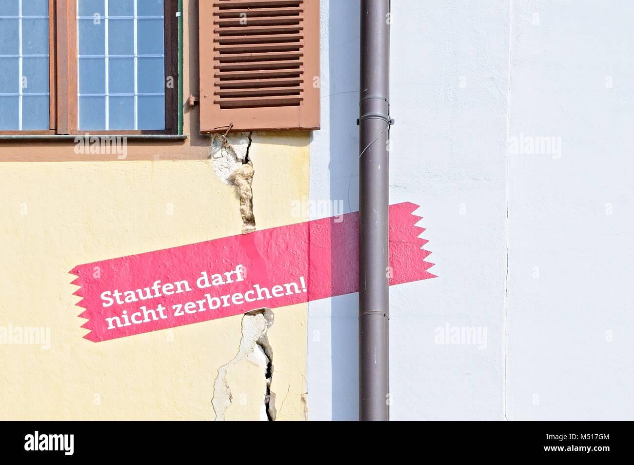 bitter reminder in Staufen im Breisgau Germany - Stock Image