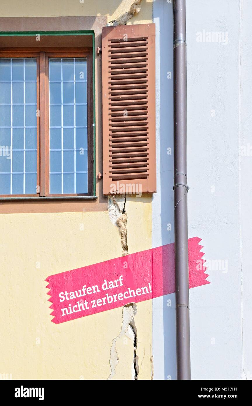 Old Town Staufen in Breisgau in Danger Germany, - Stock Image