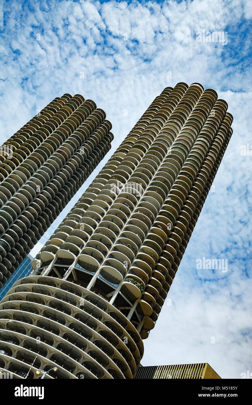 Marina City, Chicago, Illinois USA - Stock Image