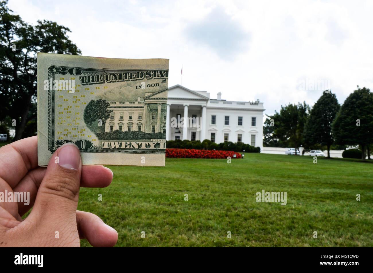 Washington Money Politics - Stock Image