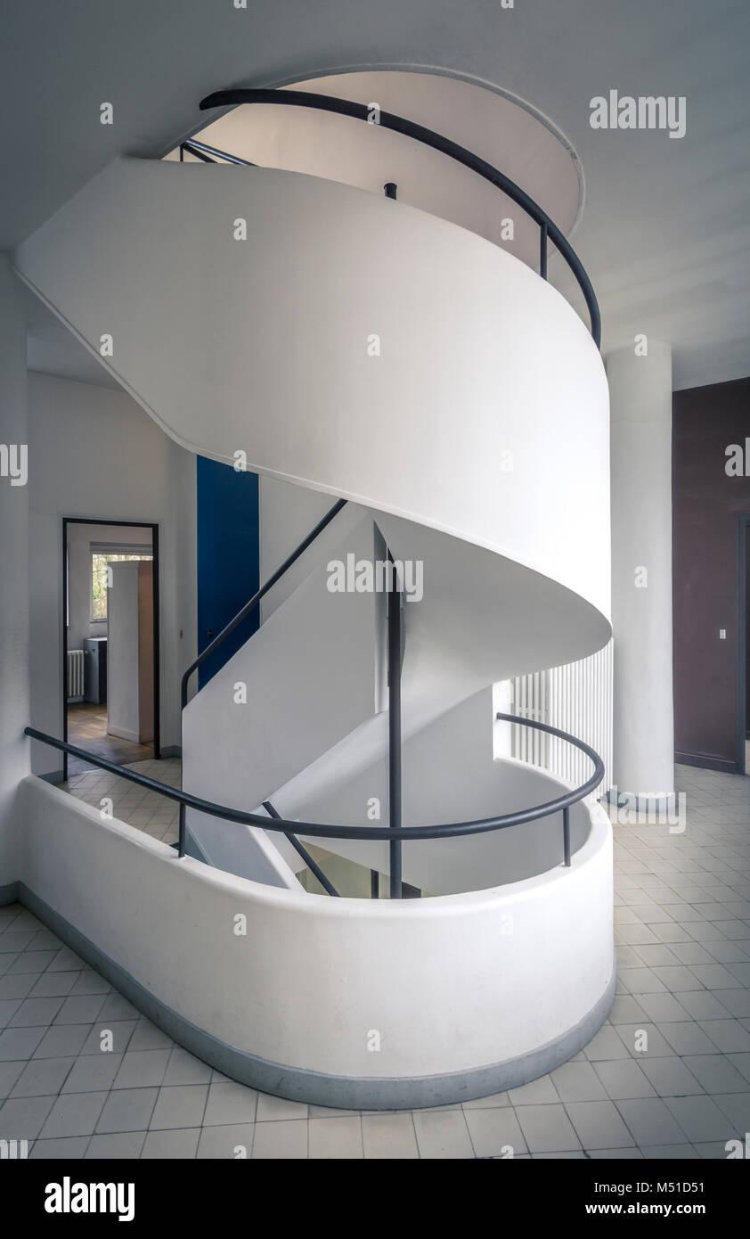 Villa Savoye, Le Corbusier Stock Photo: 175209245 - Alamy