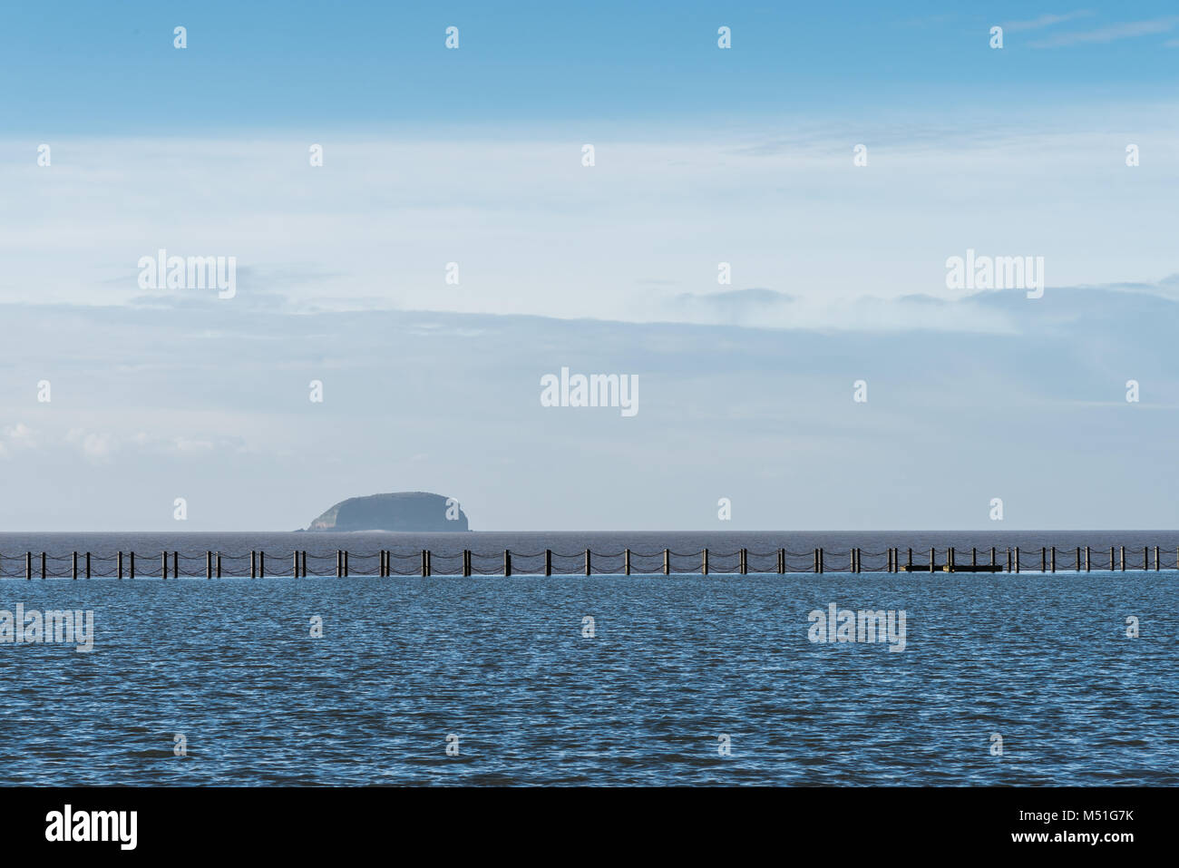 marine lake Weston super mare - Stock Image