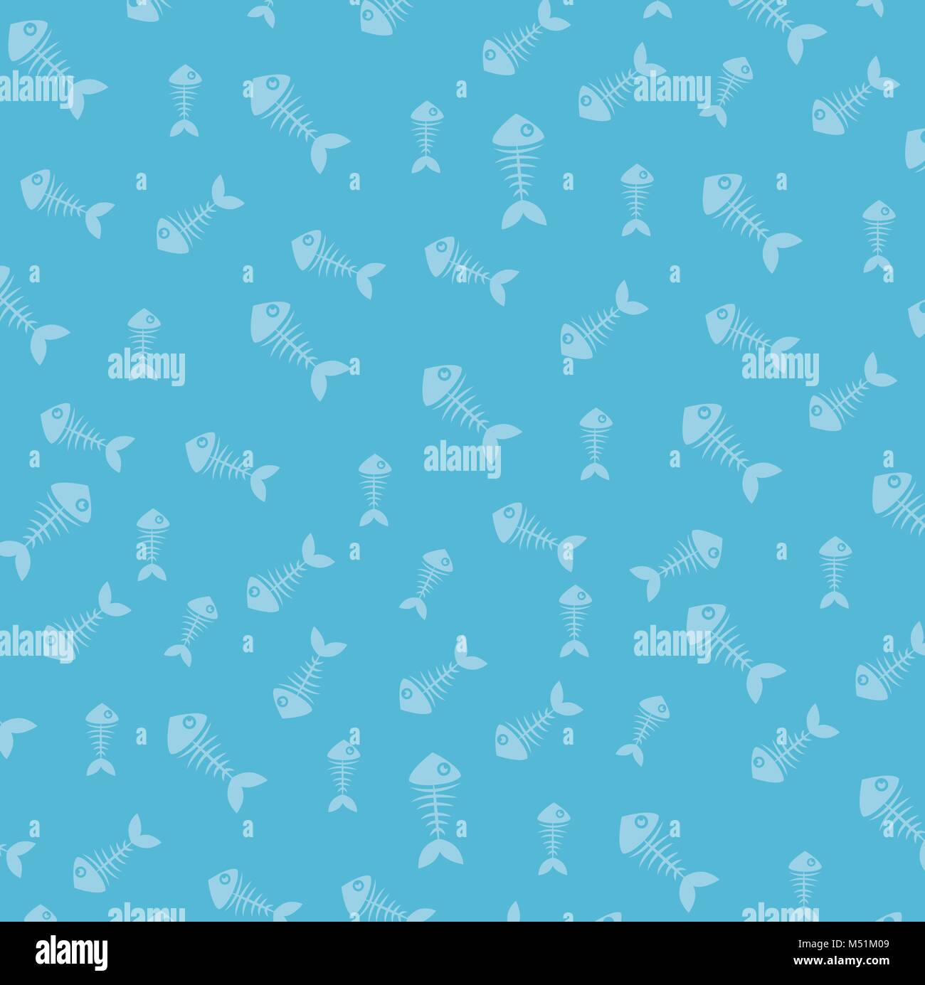 fish bones pattern background - Stock Image