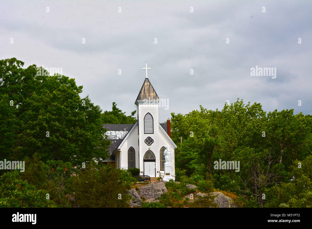 View of County Church is peaceful. - Stock Image