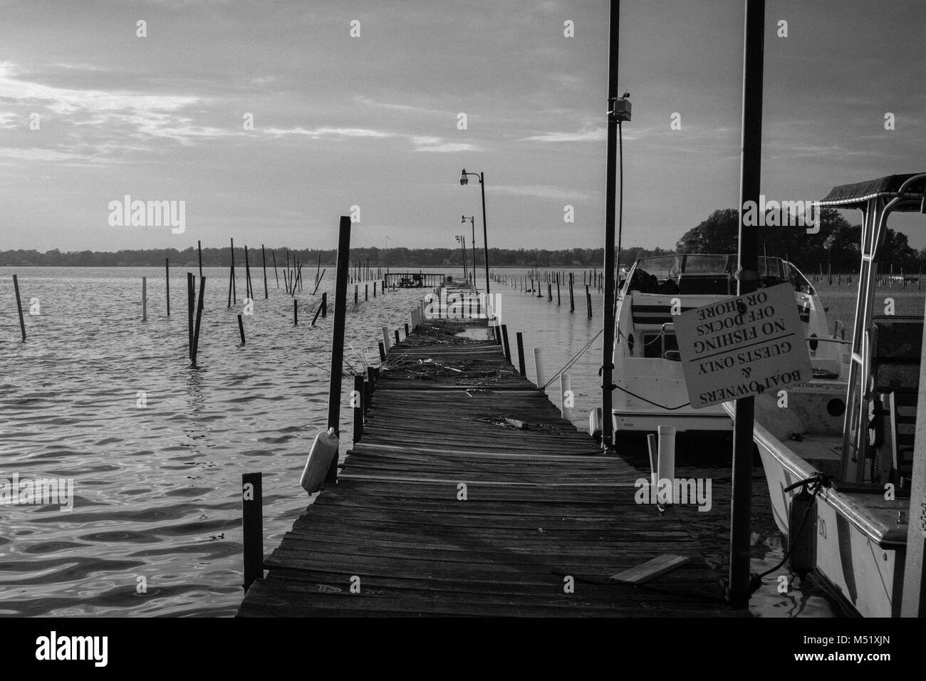 Old Dock on Braddock Bay NY - Stock Image