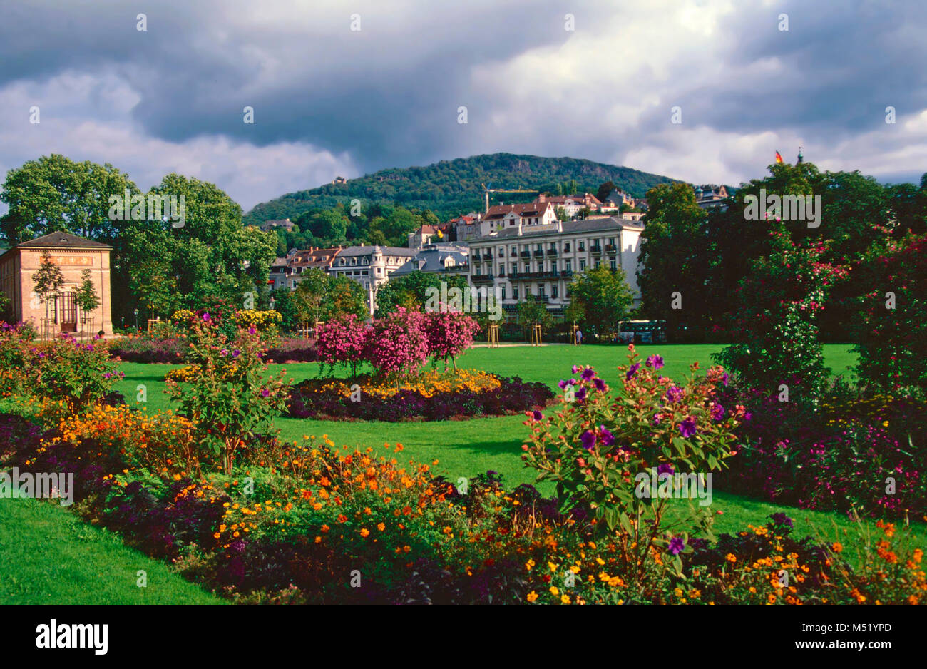 Trinkhalle Pump House and casino,Baden Baden,Germany Stock Photo