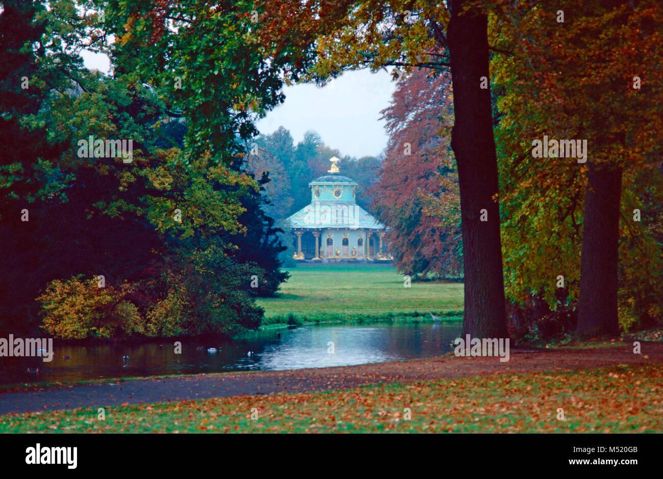 Chinese House,Sanssouci Park,Potsdam,Germany - Stock Image