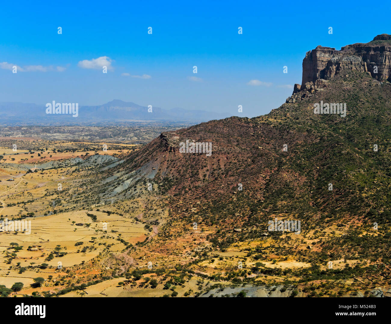 Great African Rift Valley,northern foothills in the Gheralta Mountains,near Hawzien,Tigray,Ethiopia Stock Photo