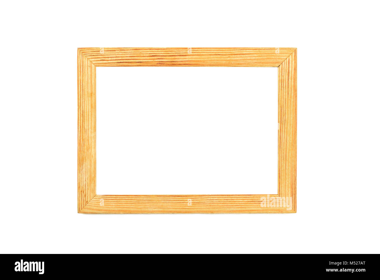 Simple wooden photo frame - Stock Image
