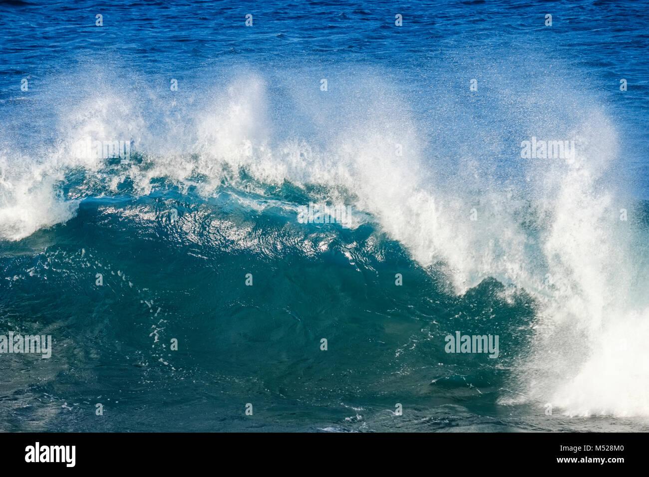 Breaking wave,Atlantic Ocean,La Gomera,Canary Islands,Canary Islands,Spain - Stock Image
