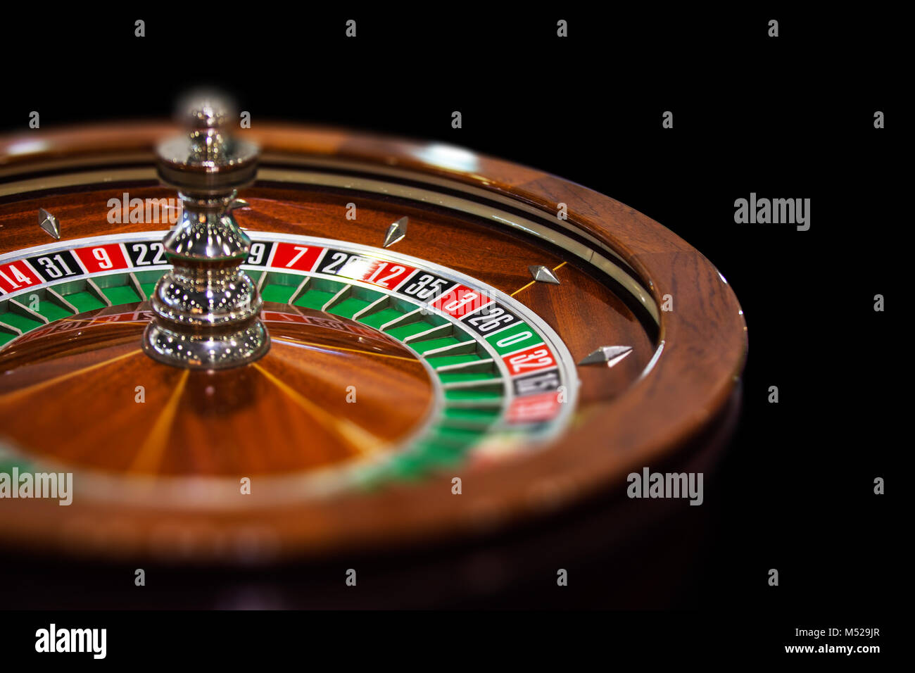 Roulette Casino Gambling Fortune Close up - Stock Image
