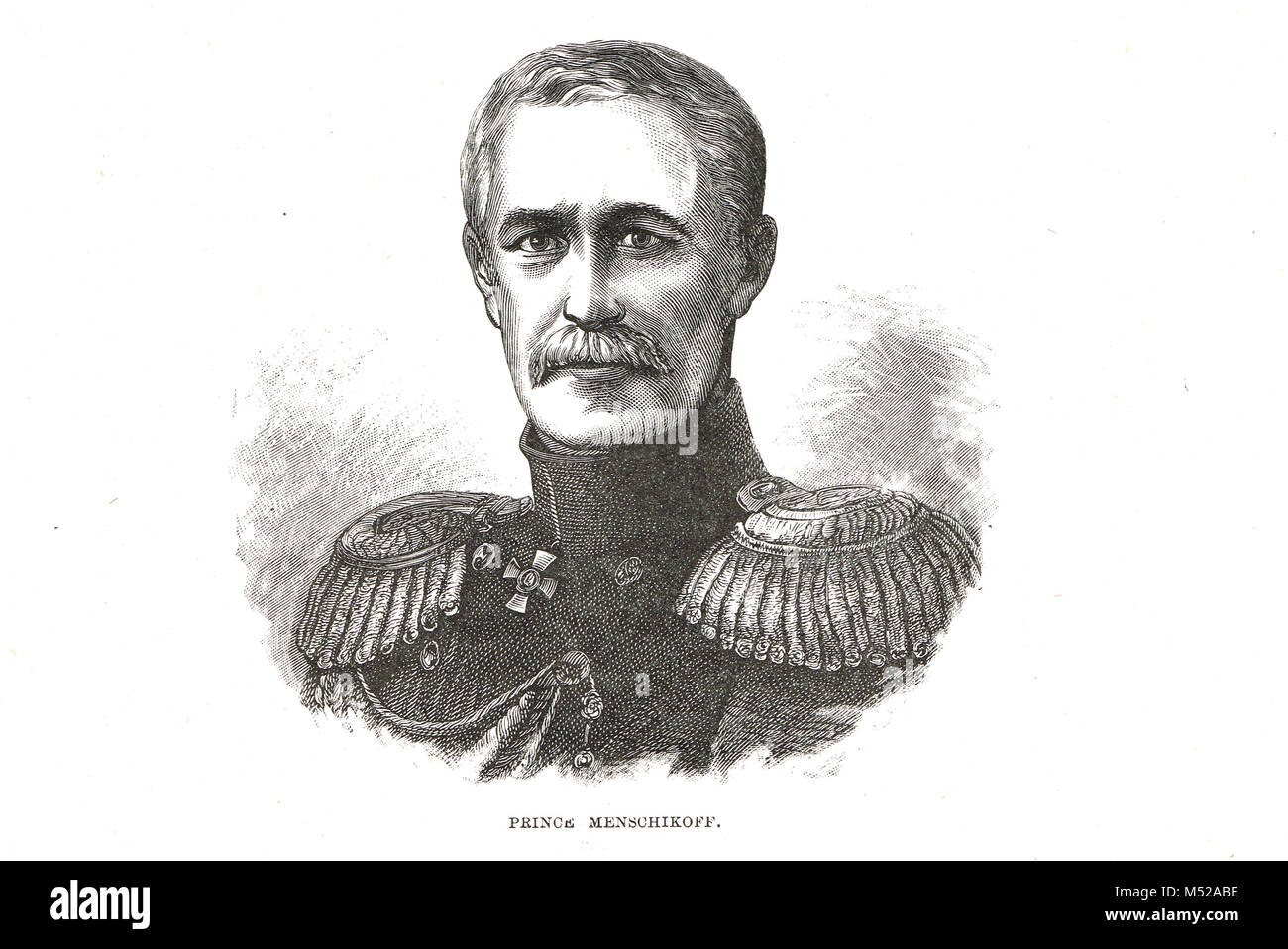 Alexander Sergeyevich Menshikov,  Crimean War commander-in-chief on land and sea of Russian forces - Stock Image