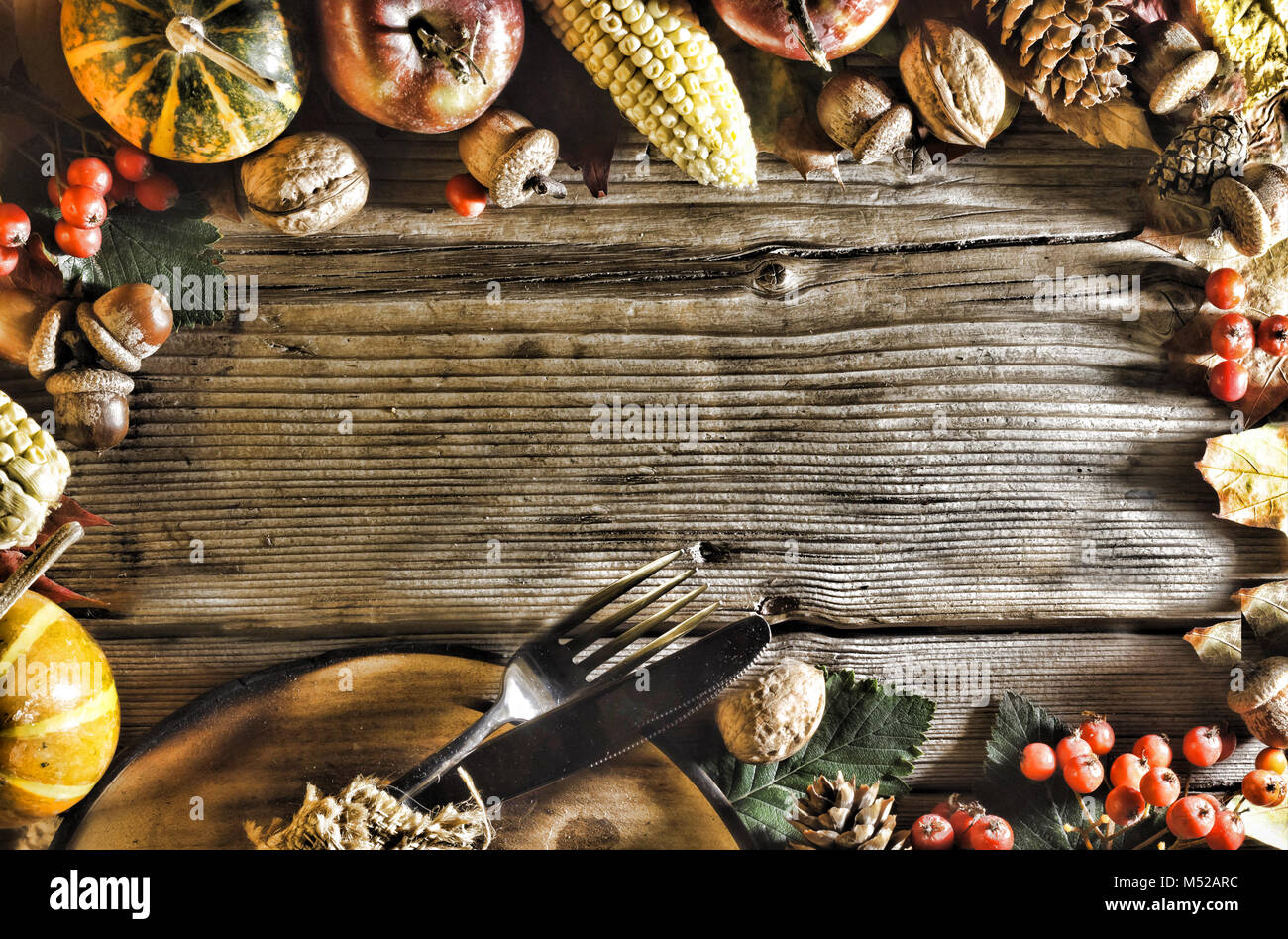 Thanksgiving background happy holiday - Stock Image
