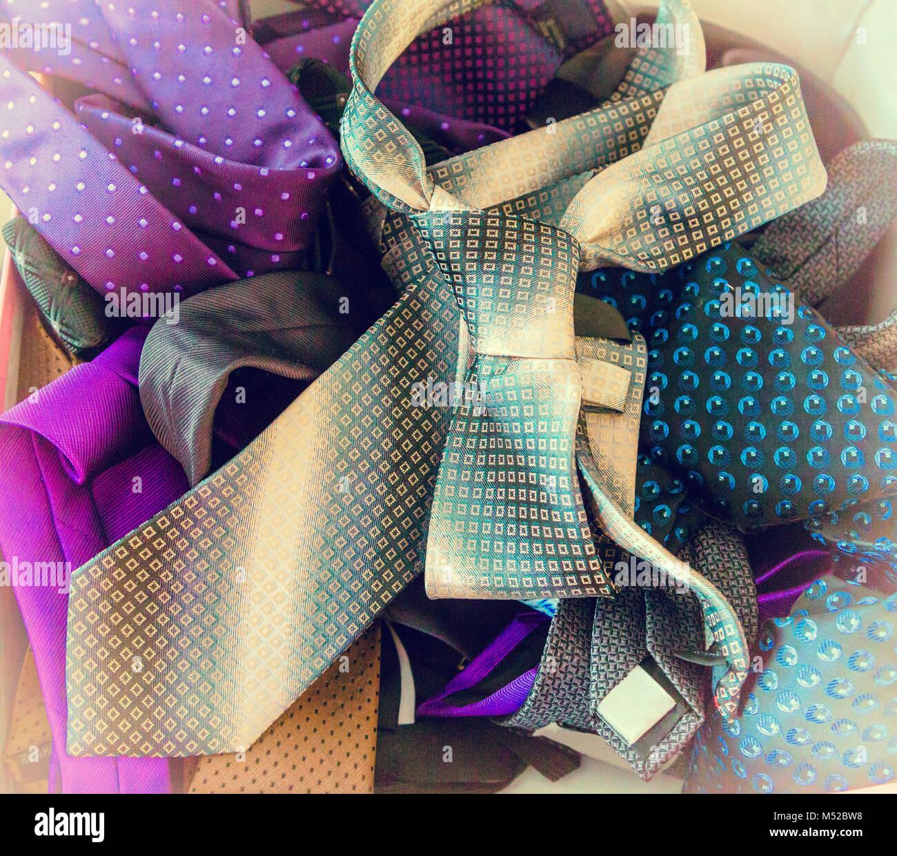 Men's fashion tie - Stock Image