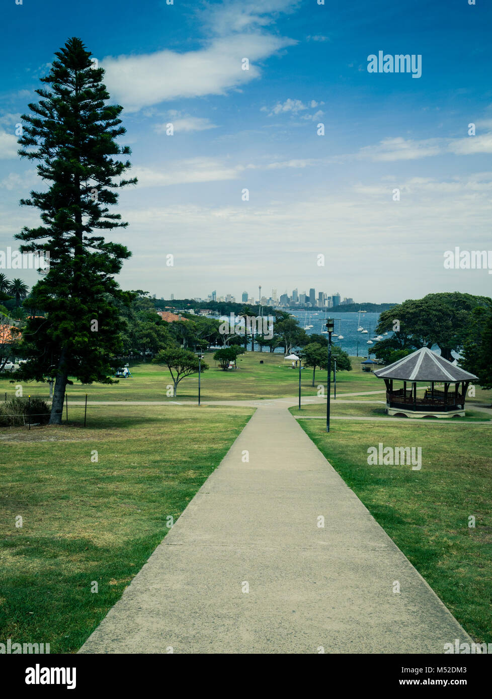 Robertson Park, Watsons Bay, Sydney Harbour, New South Wales, Australia - green tint applied - Stock Image