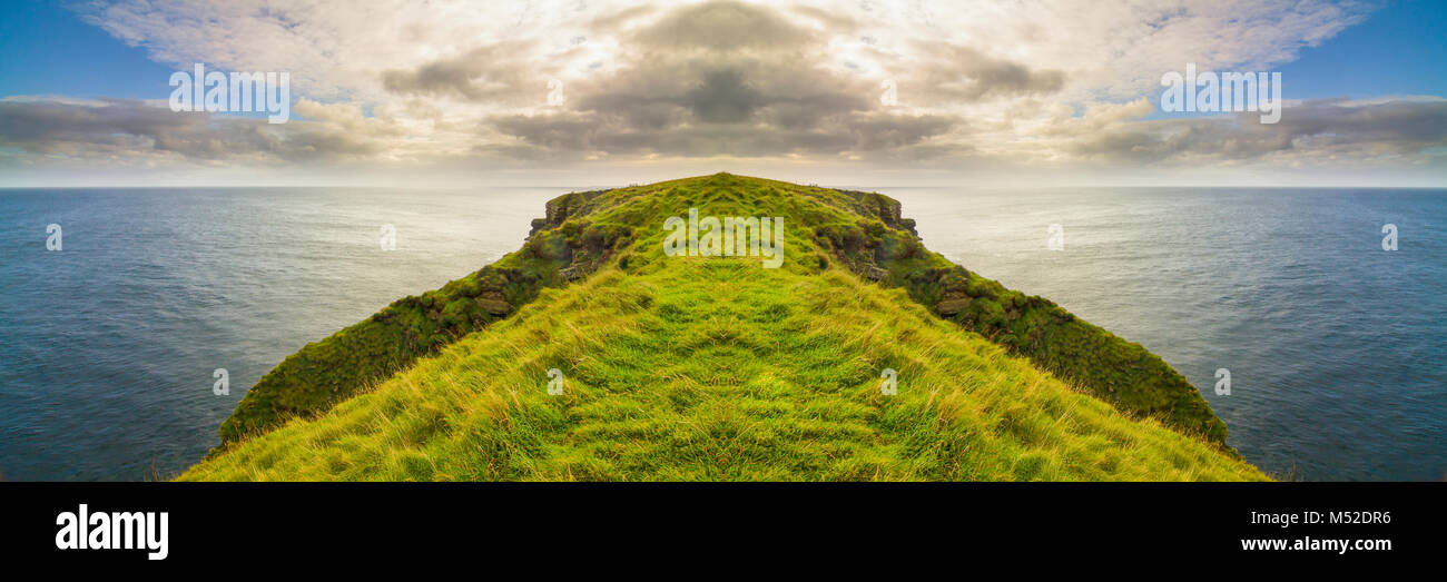 Symmetric Cliff (digital artwork) - Stock Image