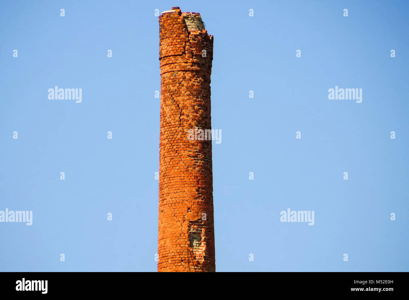 Factory ruin chimney - Stock Image