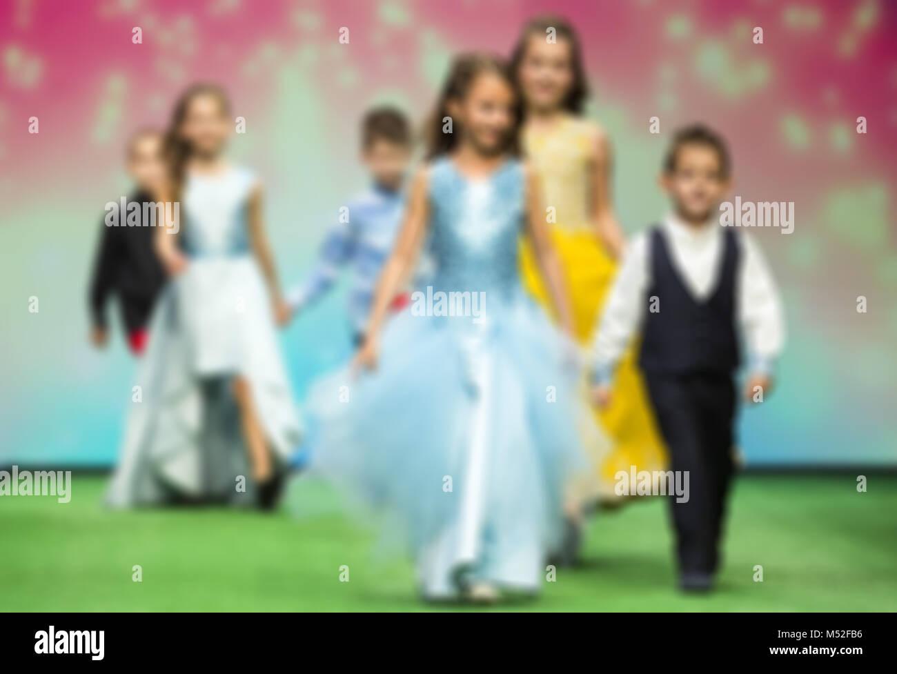 Fashion show children modeling - Stock Image