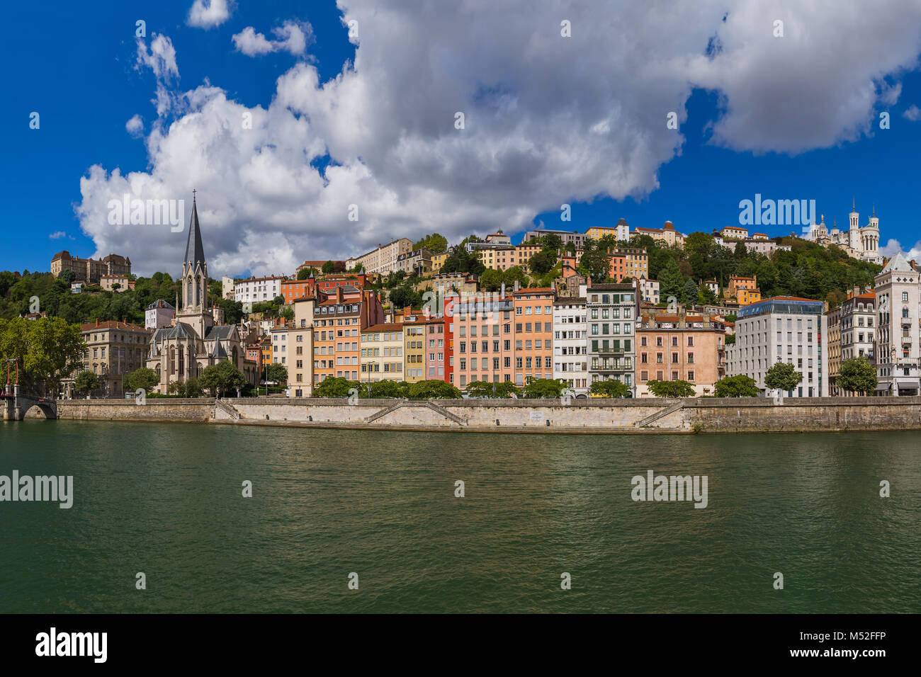 Old town of Lyon - France - Stock Image