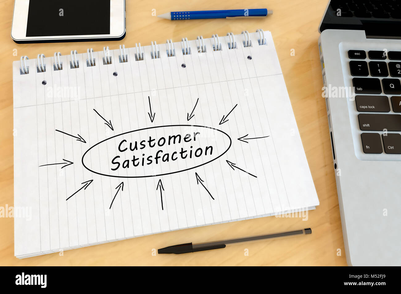 Customer Satisfaction text concept - Stock Image