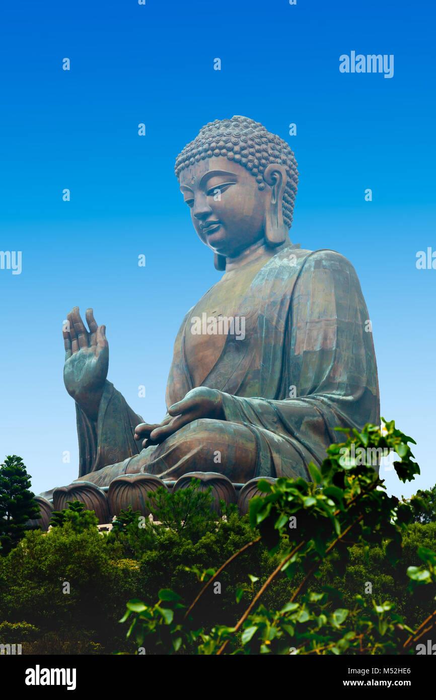 Tian Tan Buddha Lantau island Hong Kong - Stock Image