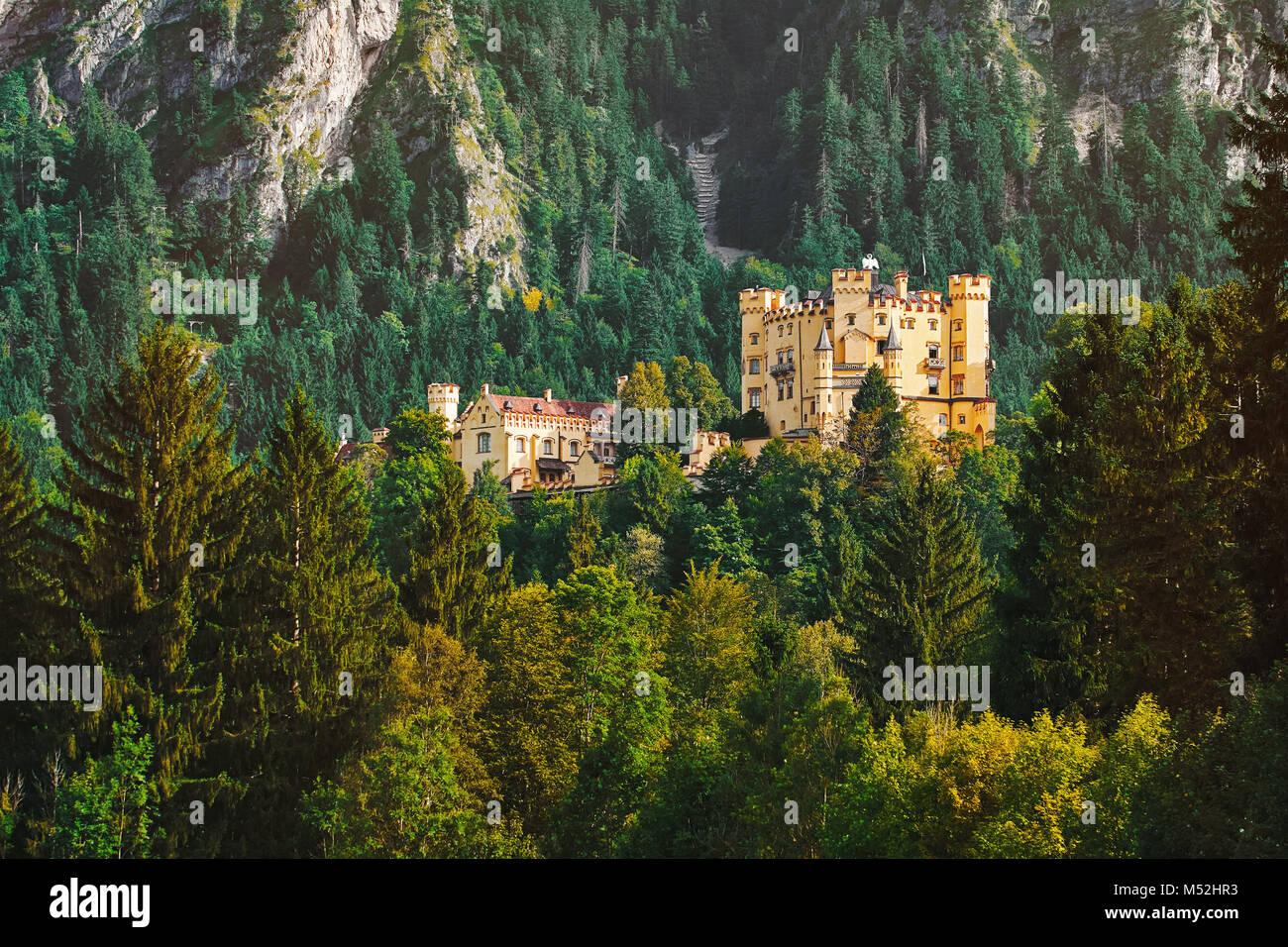 Hohenschwangau Castle in Germany - Stock Image