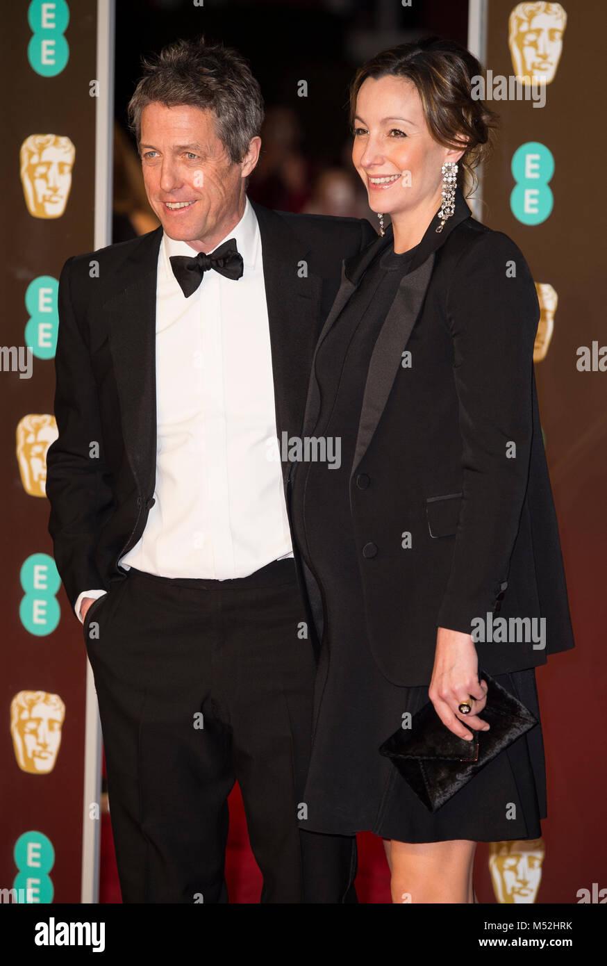 2998d78239e1 Hugh Grant attends the EE British Academy Film Awards (BAFTA) held at Royal  Albert Hall on February 18