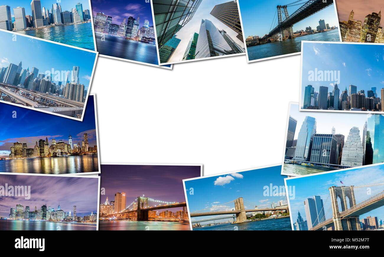 Collage of New York photos - Stock Image
