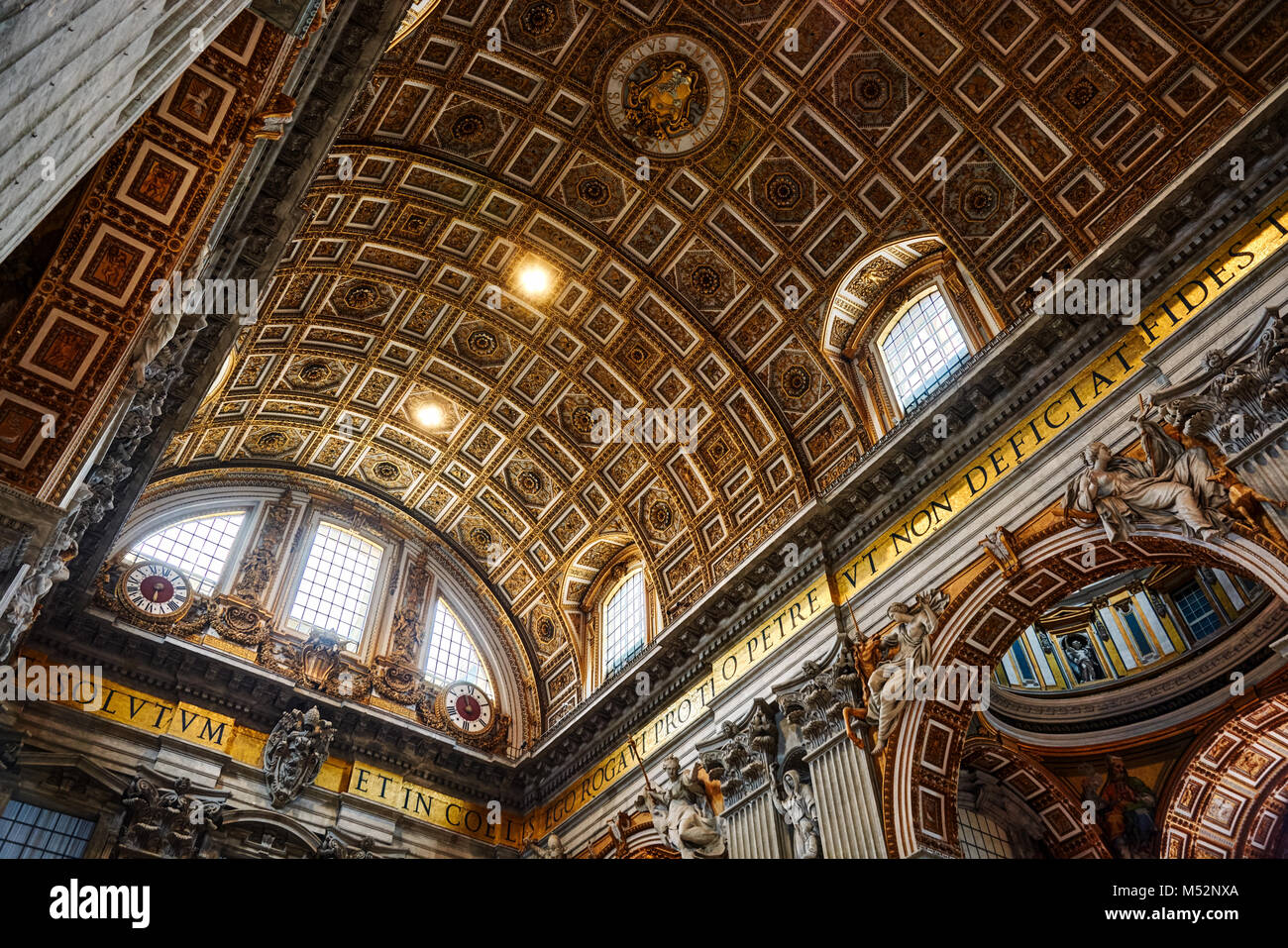VATICAN CITY, VATICAN - MAY 17, 2017: Interior view of the Basilica of Saint Peter in the Vatican. - Stock Image