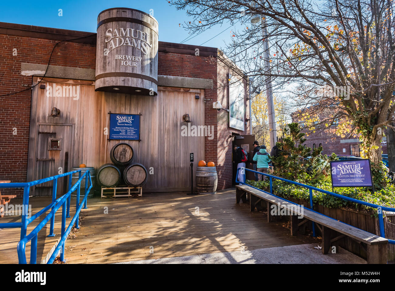 Well-known brewery with a long history lures locals & visitors with tours, tastings & a gift shop at its - Stock Image