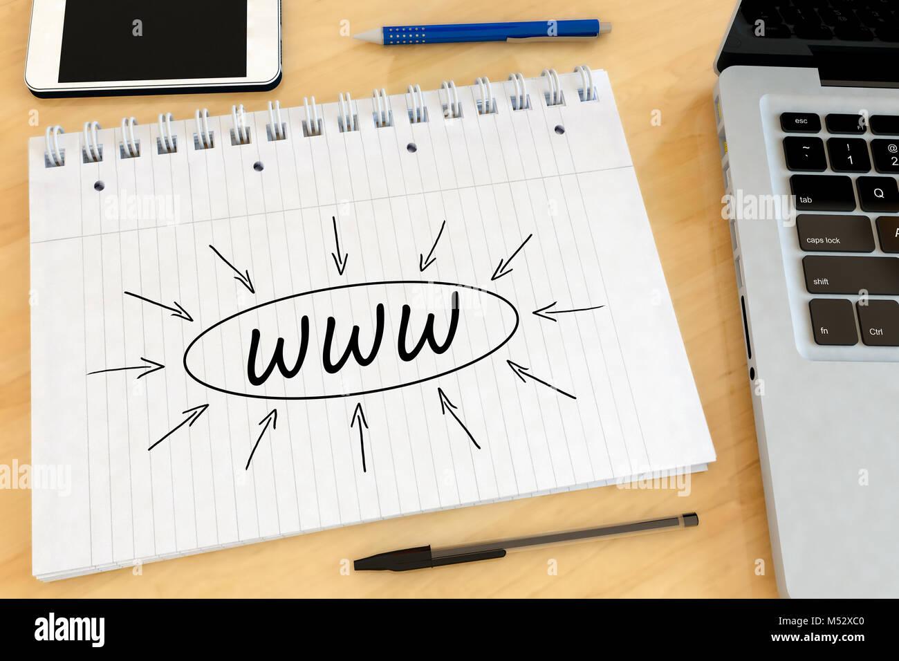 World Wide Web - Stock Image