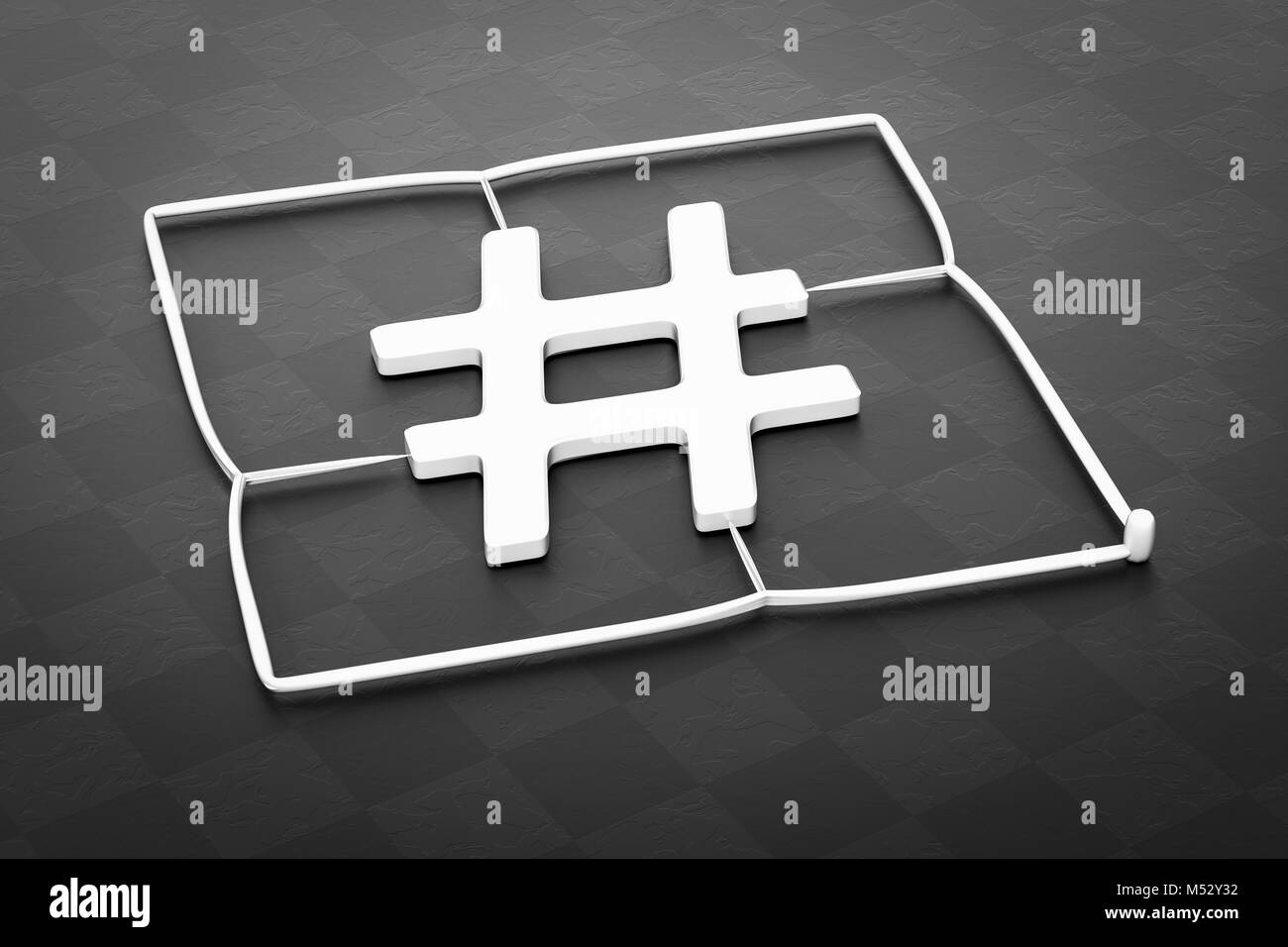 plastic injection molding hashtag sign - Stock Image