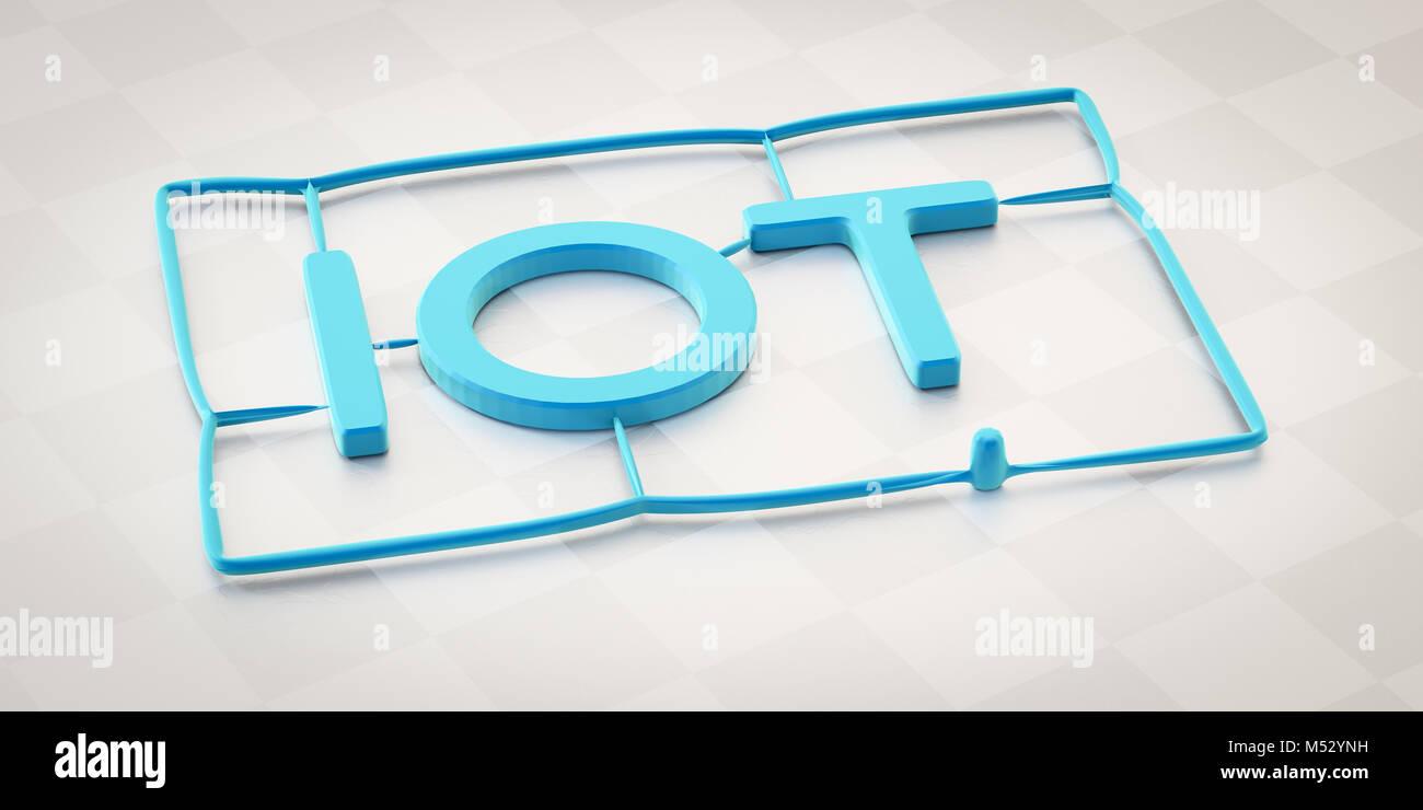 plastic injection molding word iot - Stock Image