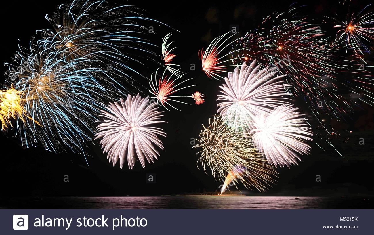 Sylvester fireworks - Stock Image