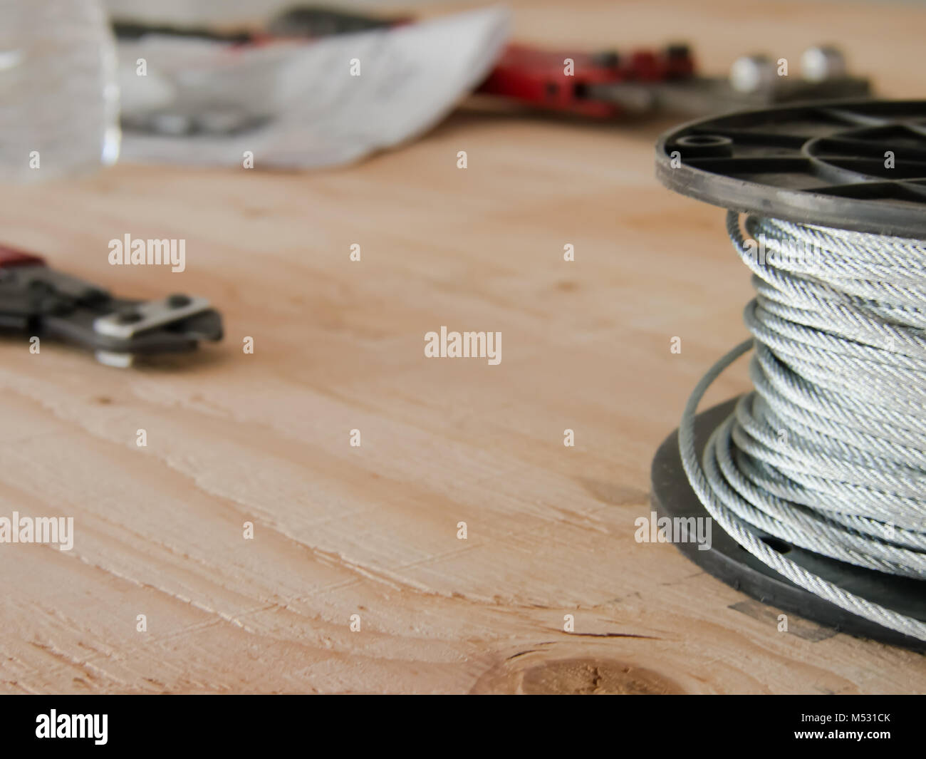 The Nipper and the Cable at the Construction Site - Stock Image