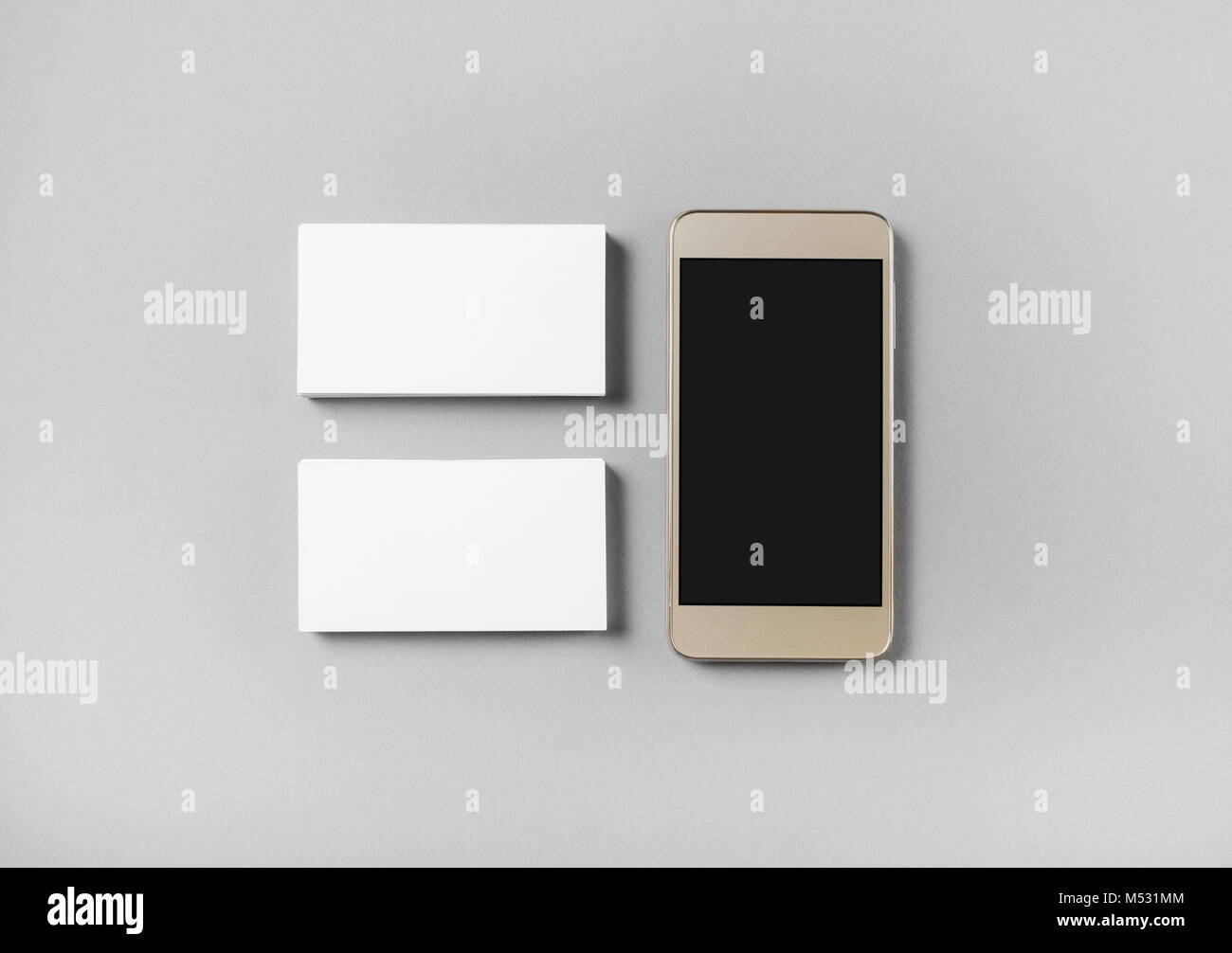 Business cards and cellphone Stock Photo: 175244180 - Alamy